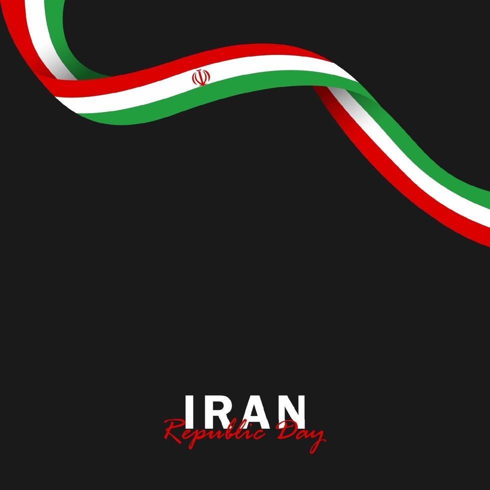 vector del día de la república con banderas de irán. celebración del día de la república de irán.