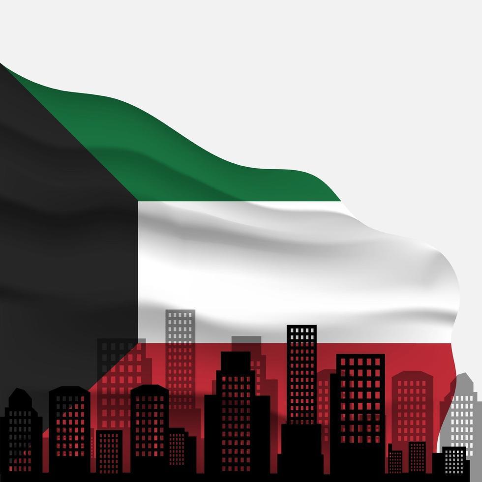 Celebration of Kuwait national day vector