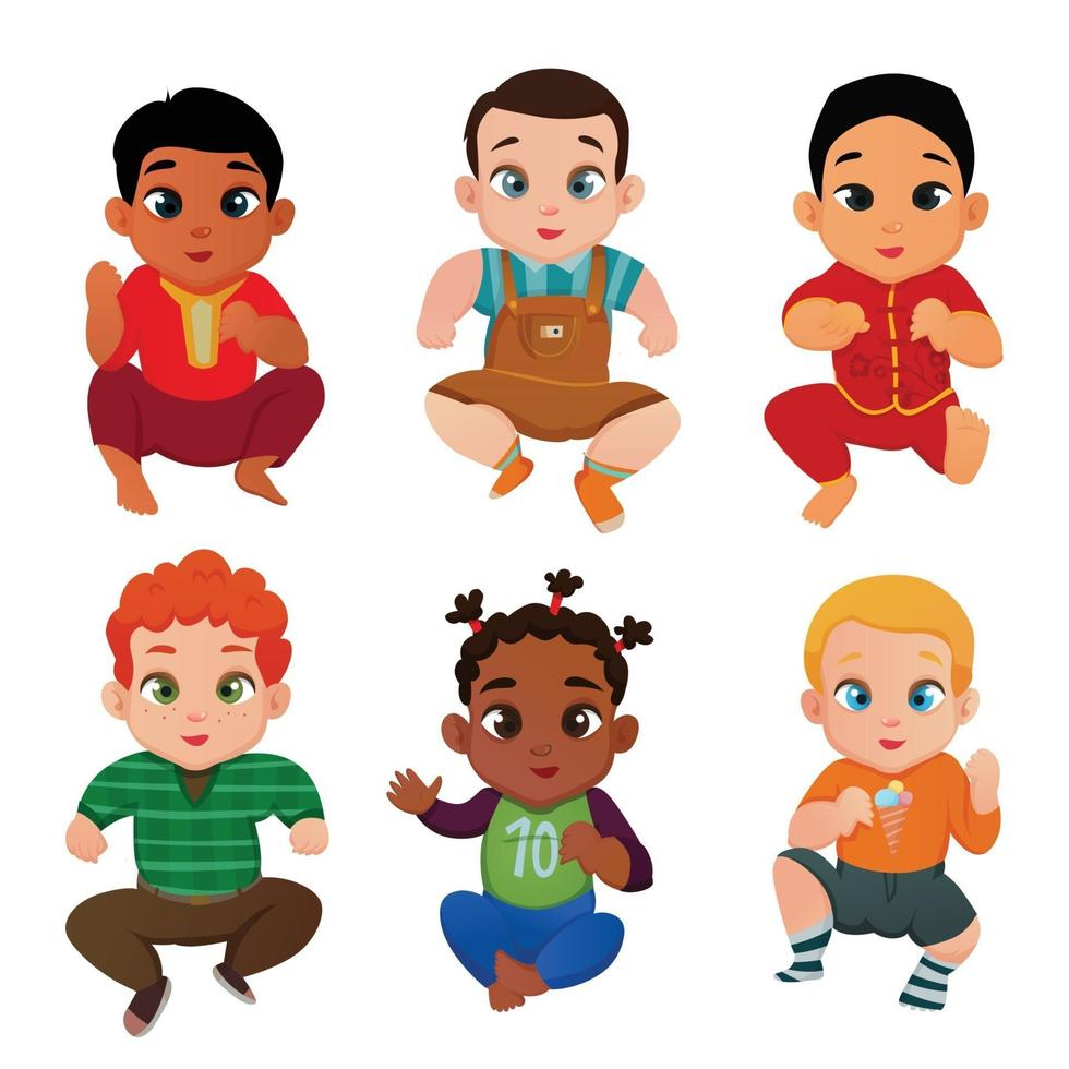 Baby International Set Vector Illustration
