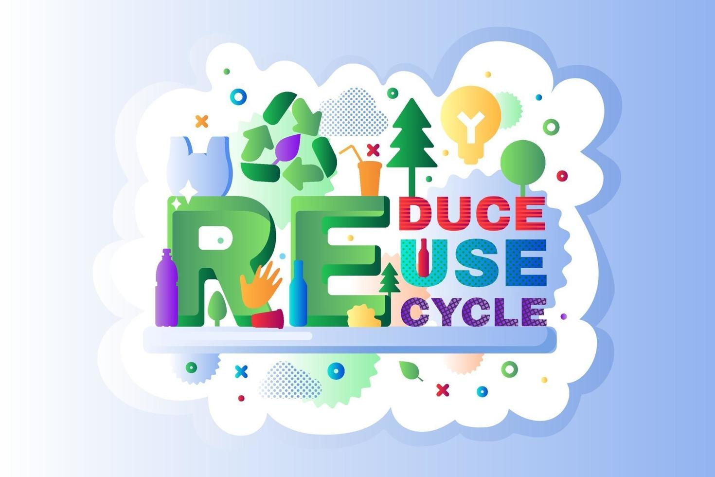 Recycle waste logo icon outline vector