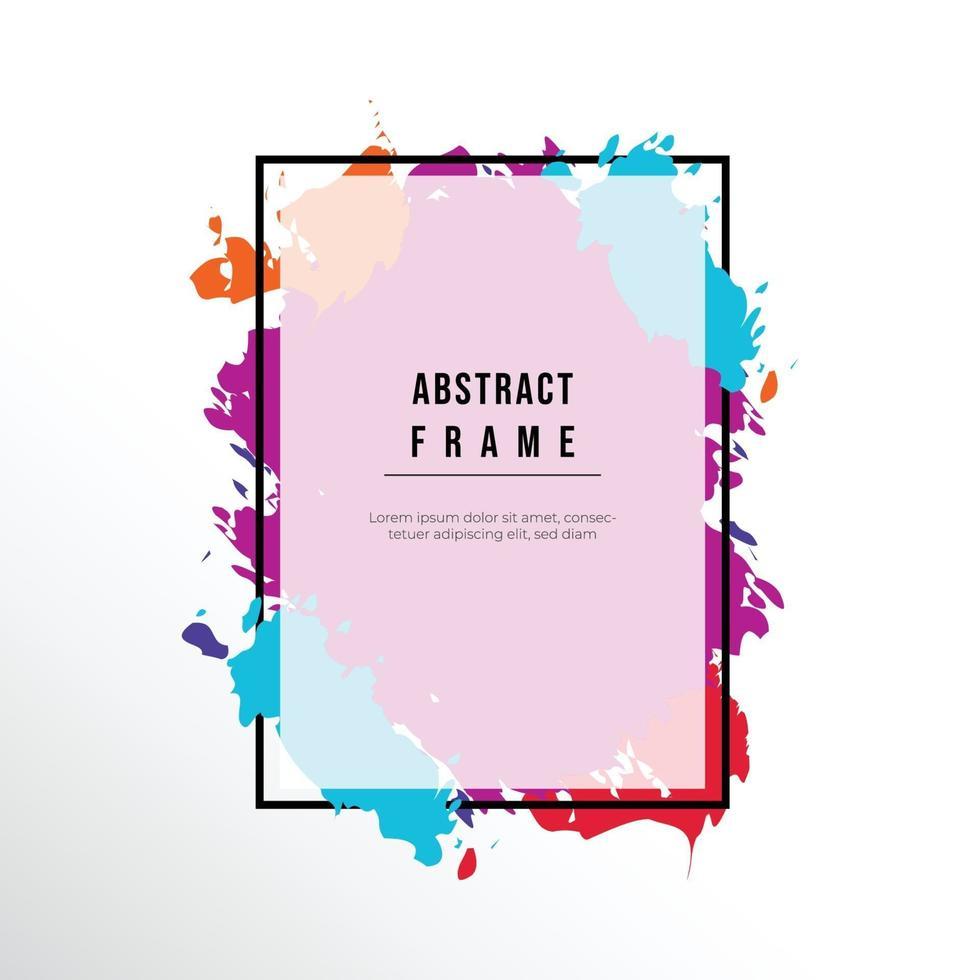 colorful splash frame vector background