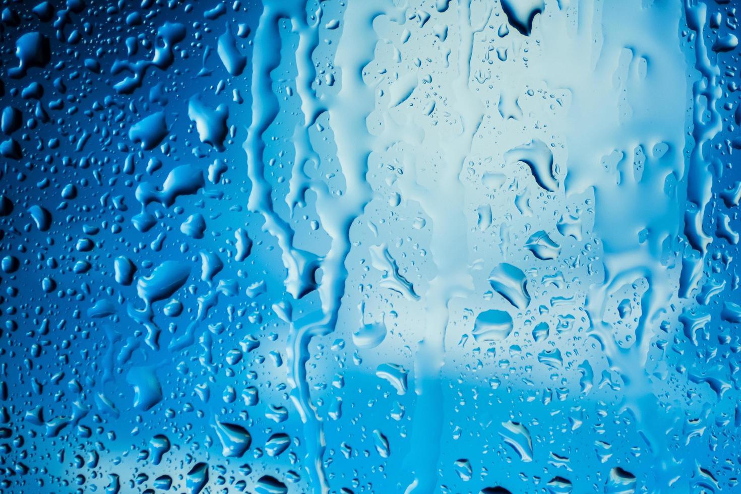 fondo gotas de lluvia cerrar foto