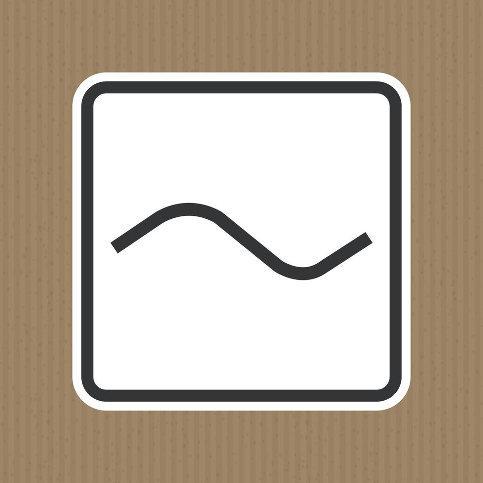 Alternating Current AC Symbol Sign Isolate On White Background,Vector Illustration EPS.10 vector