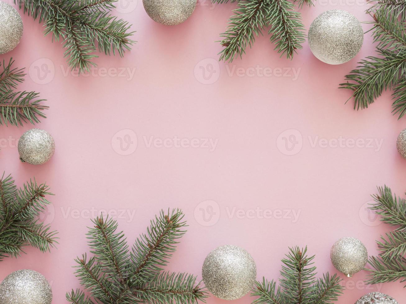 plano laico hermoso fondo de navidad foto