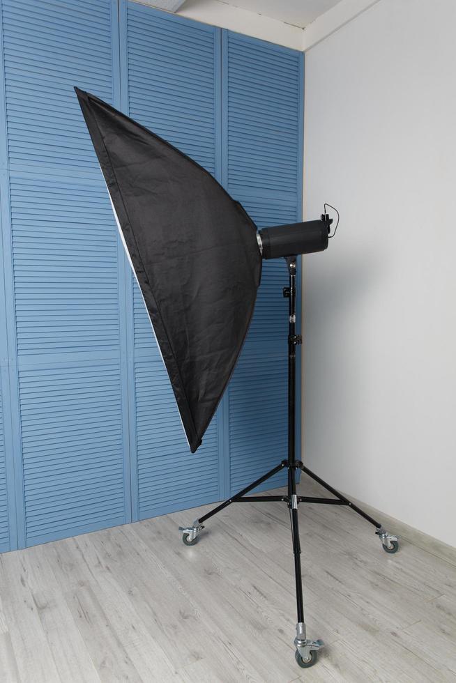 Studio flash with soft box photo