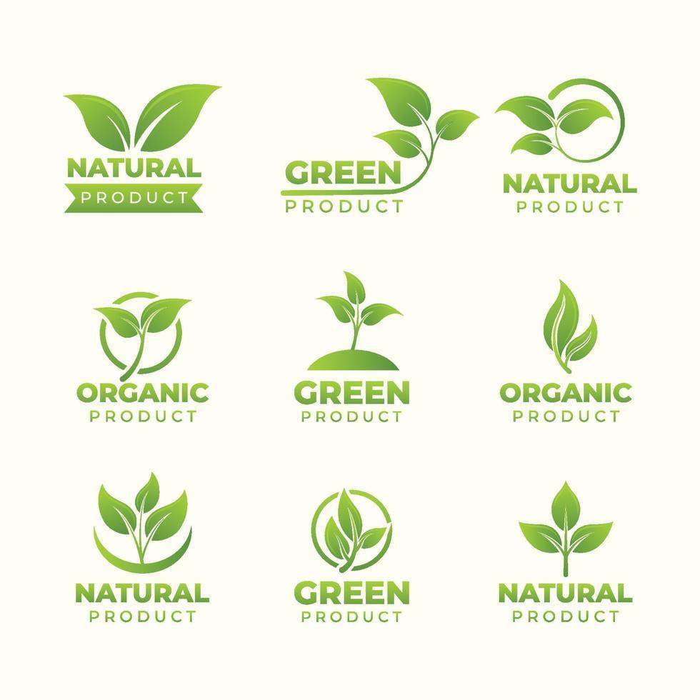 Set of Natural Logo Products vector