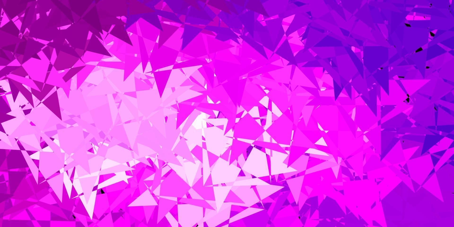 Light purple, pink vector pattern with polygonal shapes.