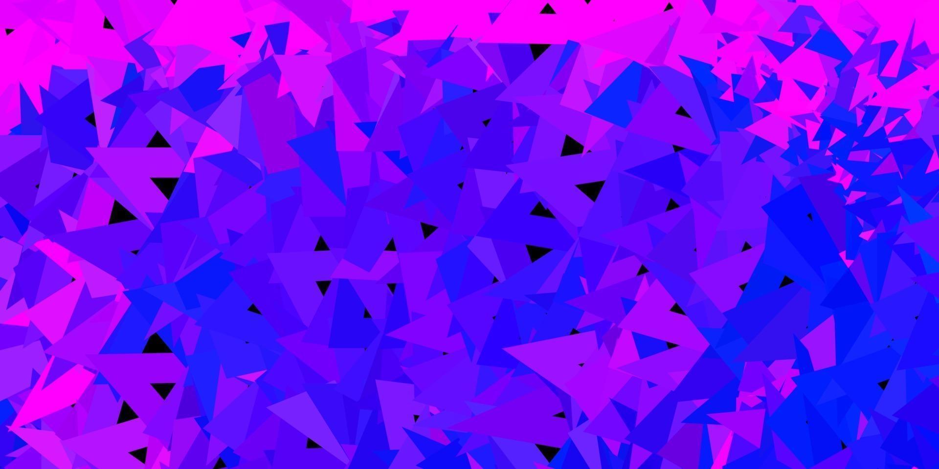 patrón poligonal de vector rosa claro, azul.