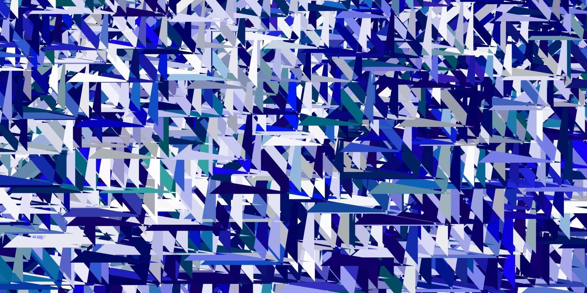 diseño de vector azul claro, verde con formas triangulares.