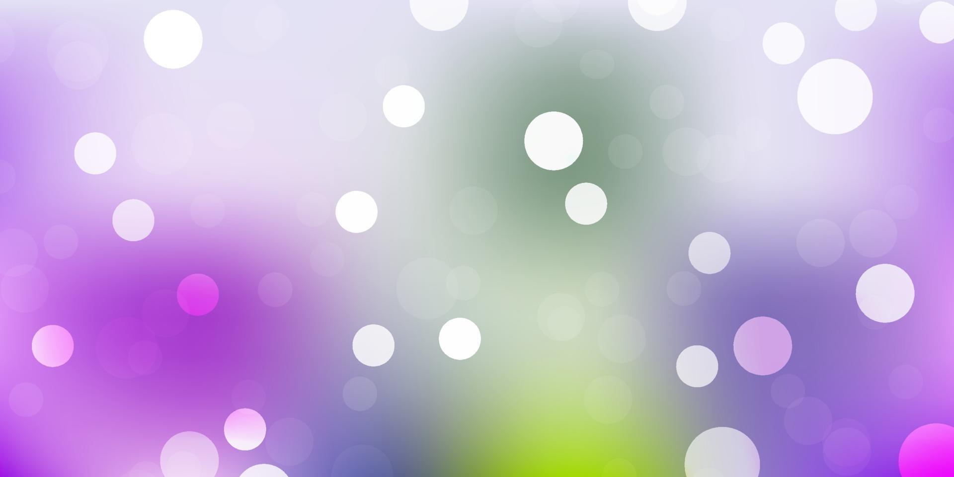 Fondo de vector rosa claro, verde con puntos.