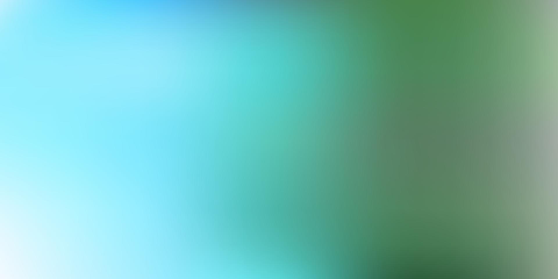 Fondo de desenfoque degradado de vector azul claro, verde.