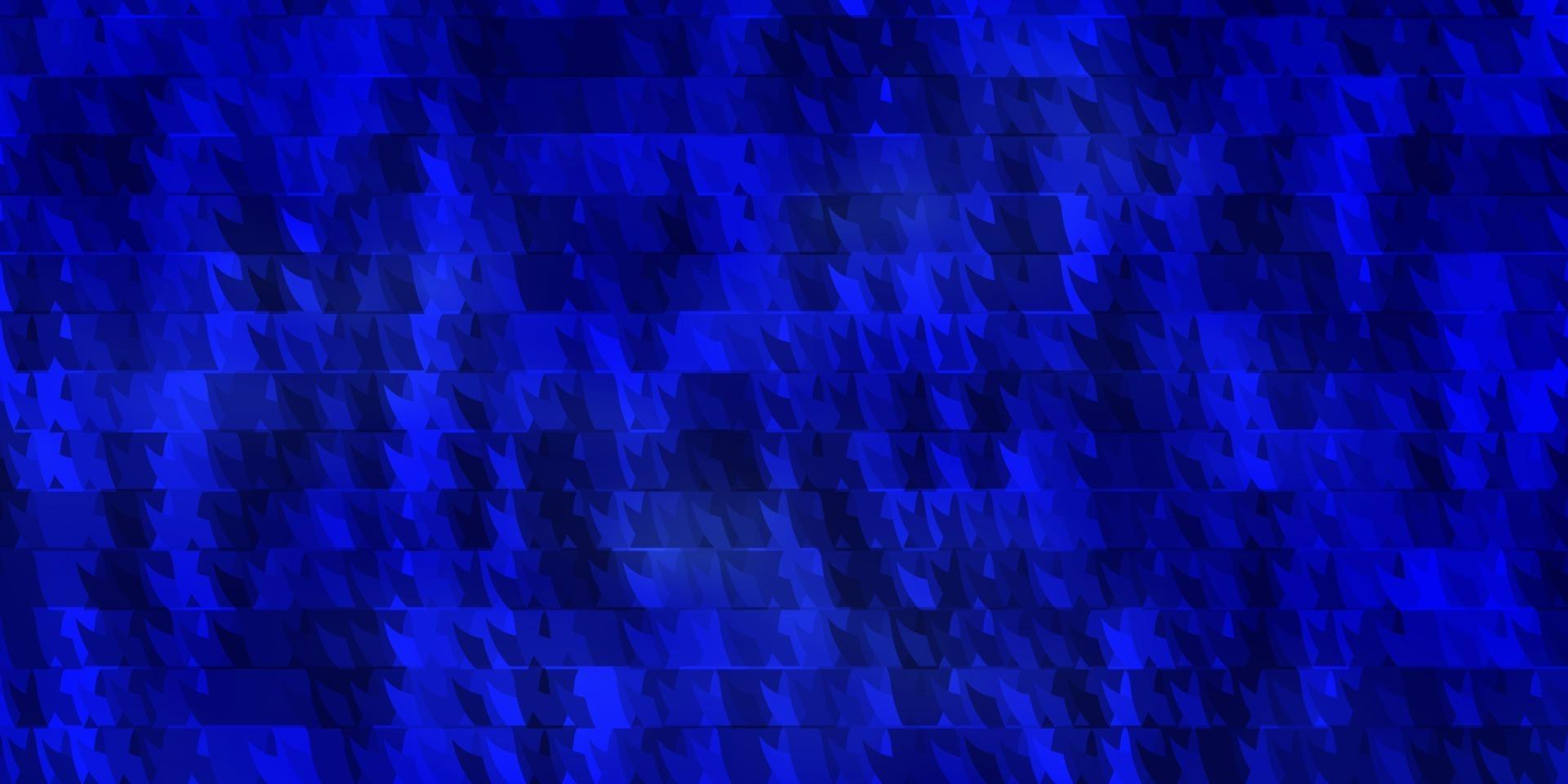plantilla de vector azul oscuro con líneas, triángulos.