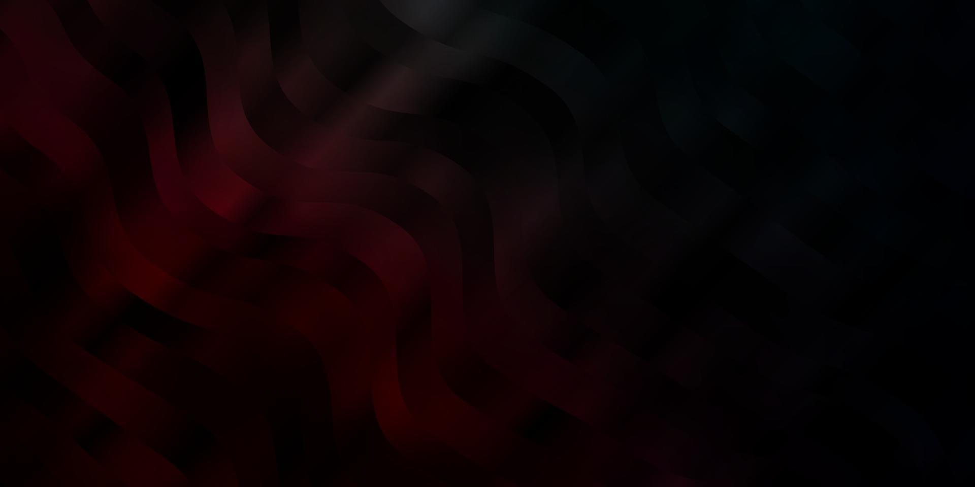 patrón de vector azul oscuro, rojo con líneas torcidas.
