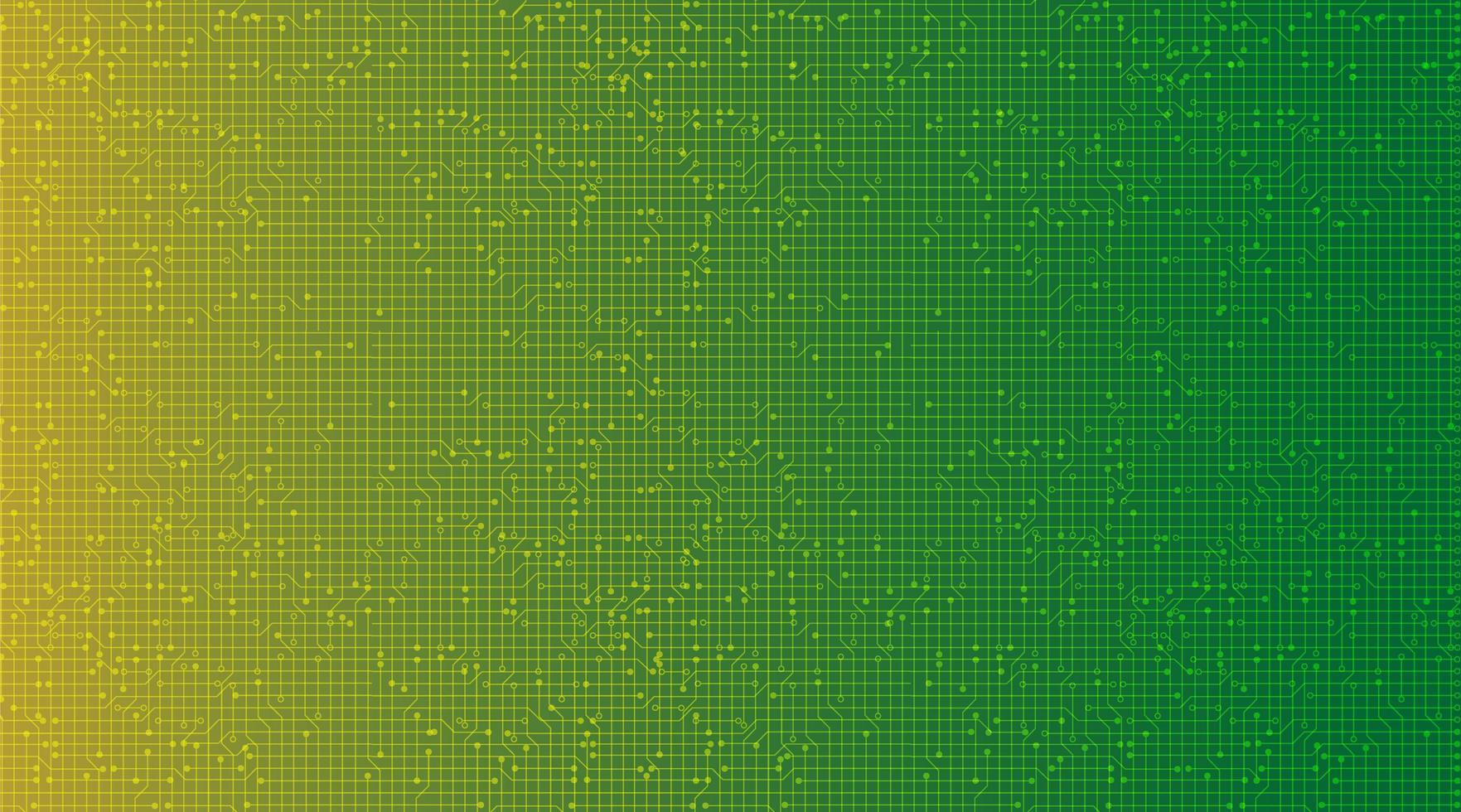 Fondo de tecnología verde y amarillo, diseño de concepto digital y de comunicación de alta tecnología, espacio libre para texto, ilustración vectorial. vector