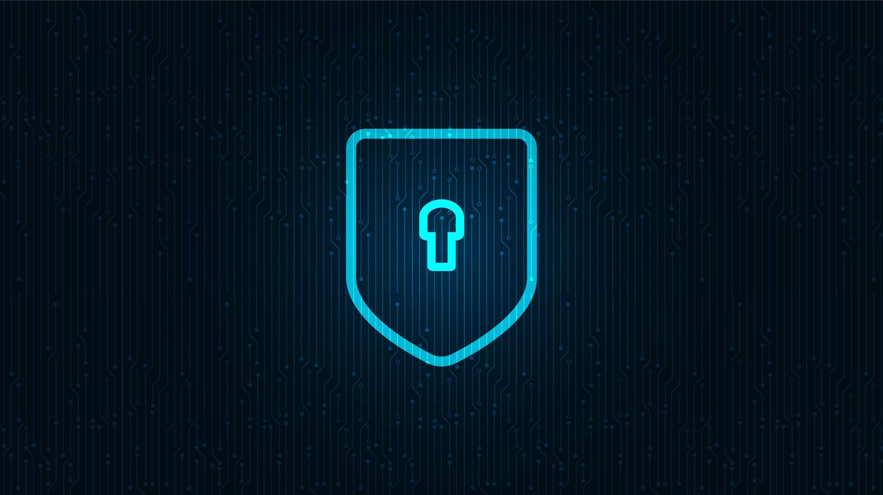 tecnología de red escudo seguridad, protección y concepto de conexión diseño de fondo ilustración vectorial. vector