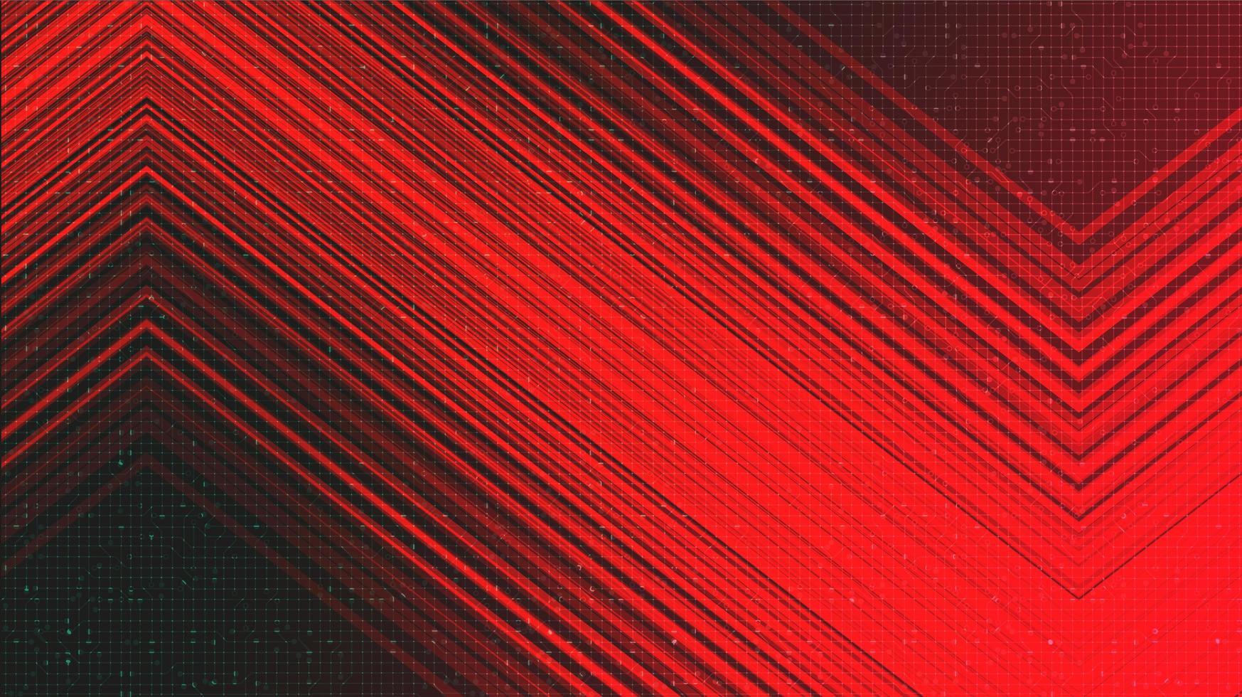 Fondo de tecnología rojo oscuro, diseño de concepto digital y de conexión, ilustración vectorial. vector