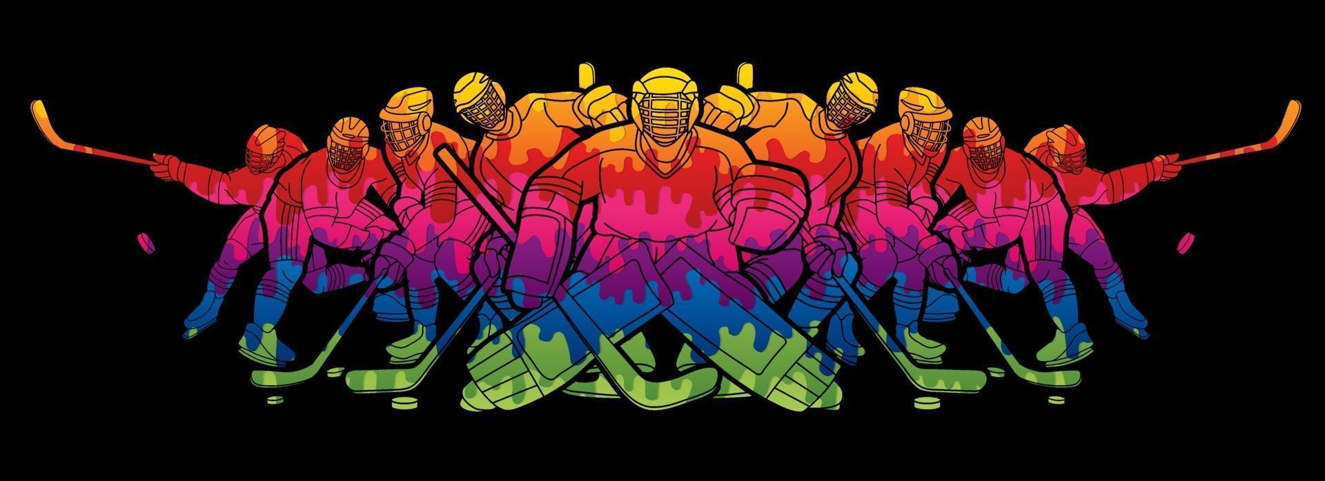 Ice Hockey Men Players Team vector