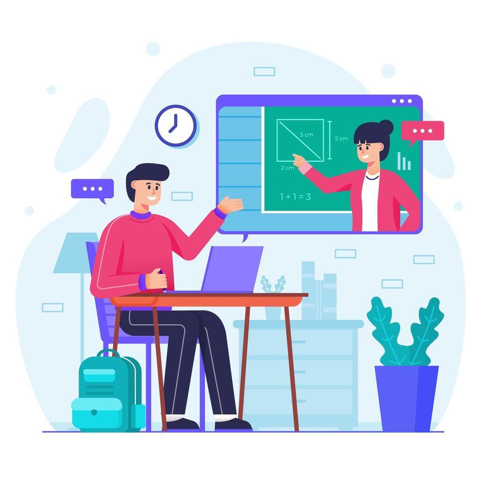 Online Courses and Tutorials Concept vector