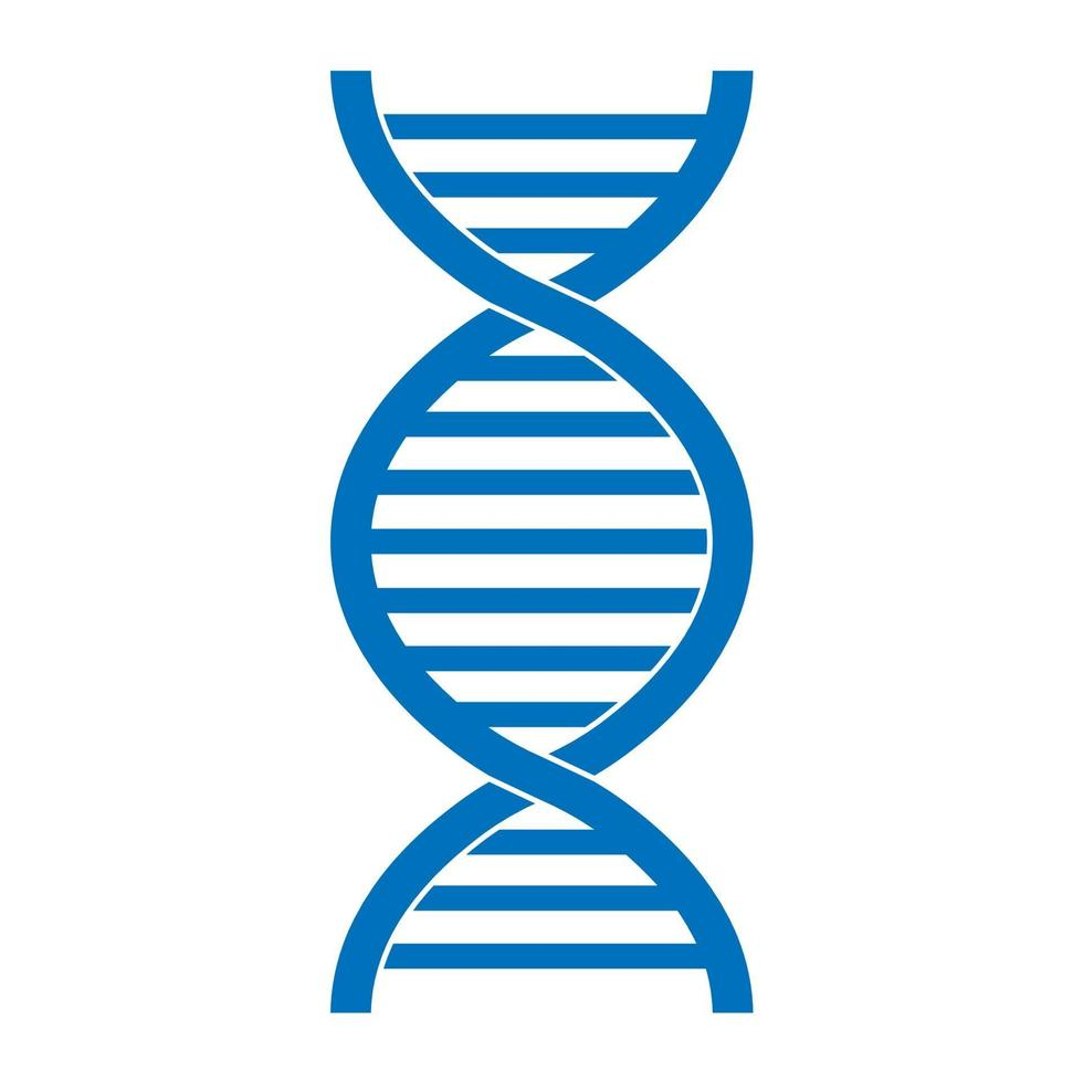 Medical scientific twisted helix structure abstract model of dna genes vector