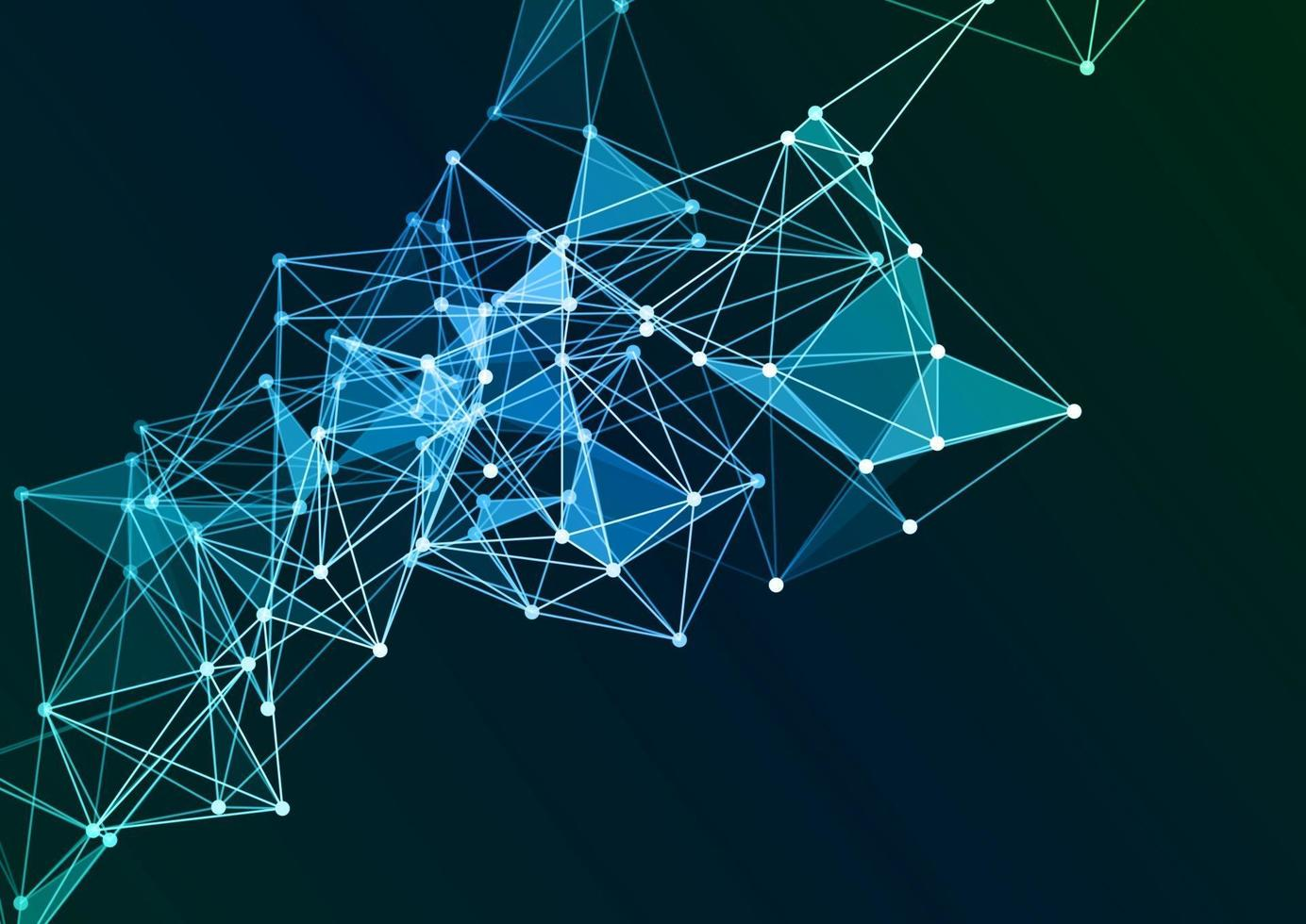 Abstract background with a network connections background design vector