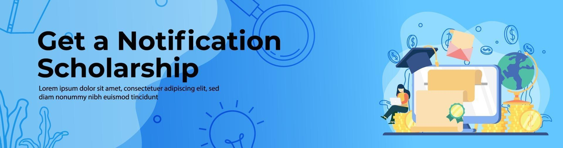 Scholarship Education Web Banner Design vector