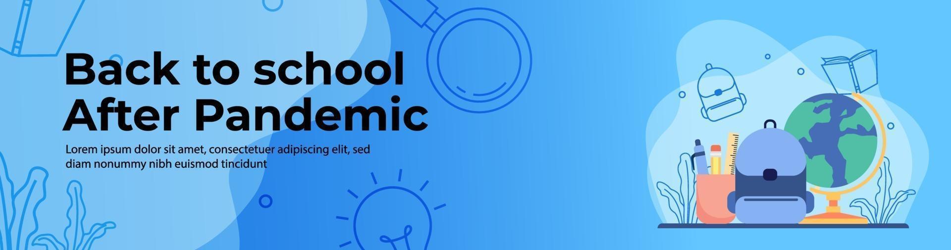 Education Web Banner Design vector