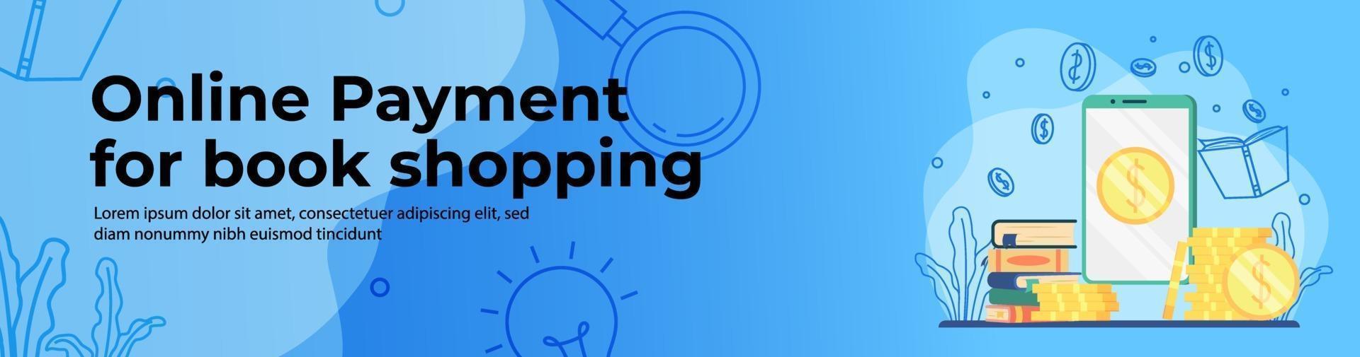 Online Shopping Web Banner Design vector