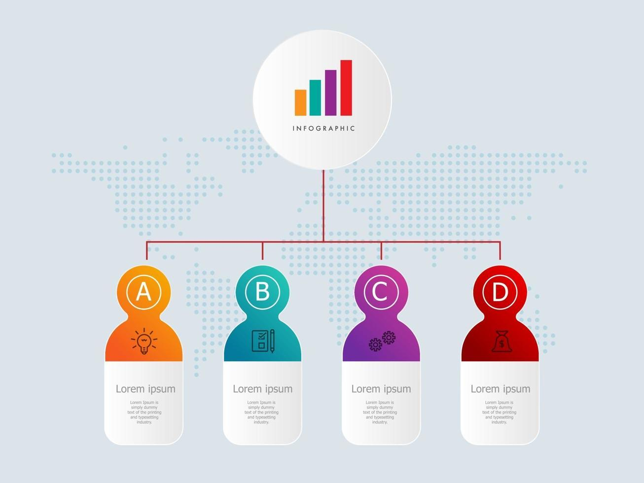 horizontal timeline infographics element template with business icons vector