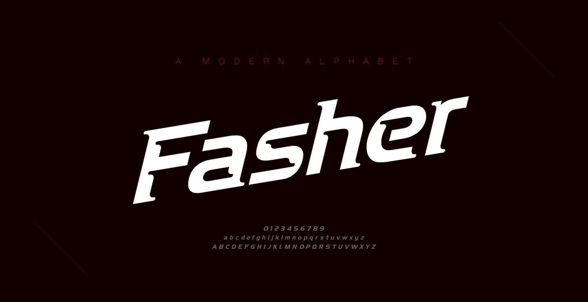 Sport modern italic alphabet fonts and number. Typography, abstract, technology, sport, digital, race, branding creative logo font. vector