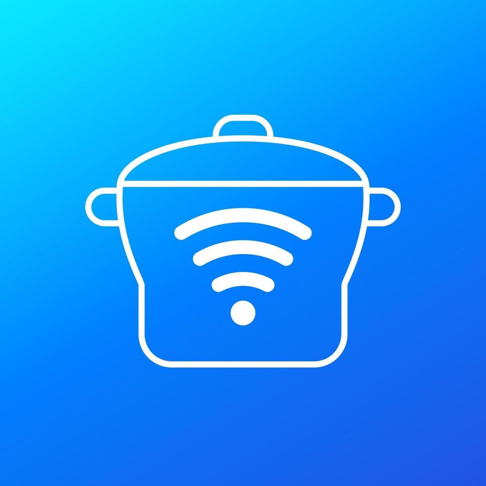 smart cooker or steamer vector icon