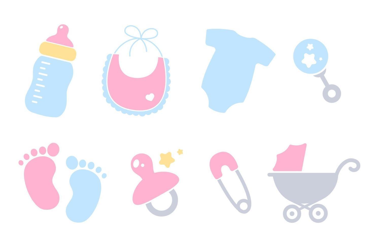 conjunto de ducha de bebé vector