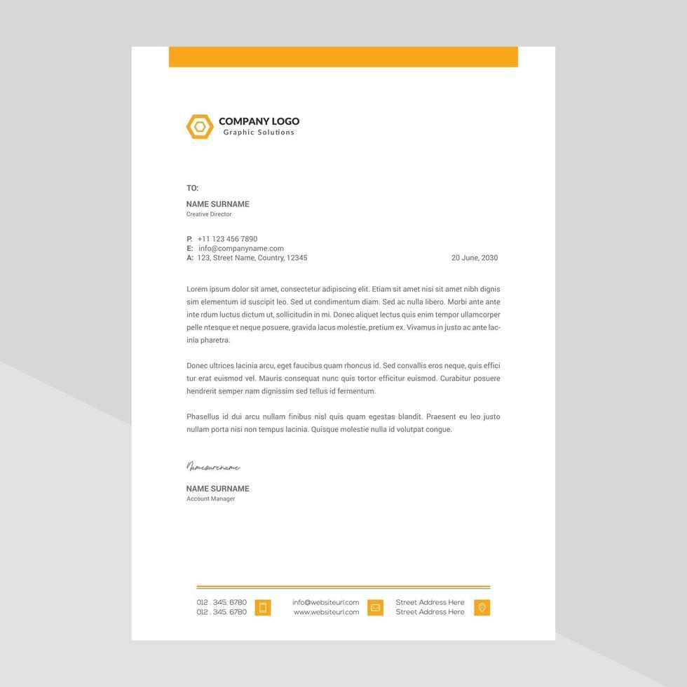 Elegant letterhead template design in minimalist style Free Vector