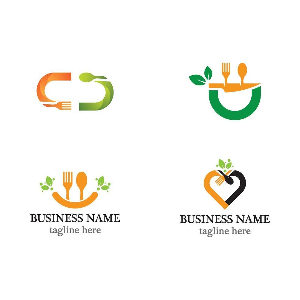 conjunto de iconos de plantilla de logotipo de comida vector