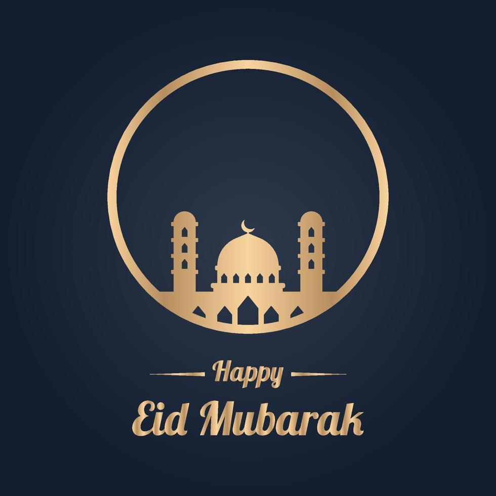 feliz plantilla de diseño de eid mubarak vector
