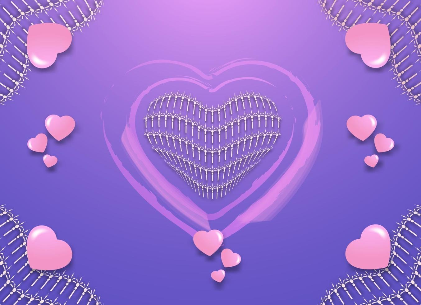 fondo de corazón abstracto vector