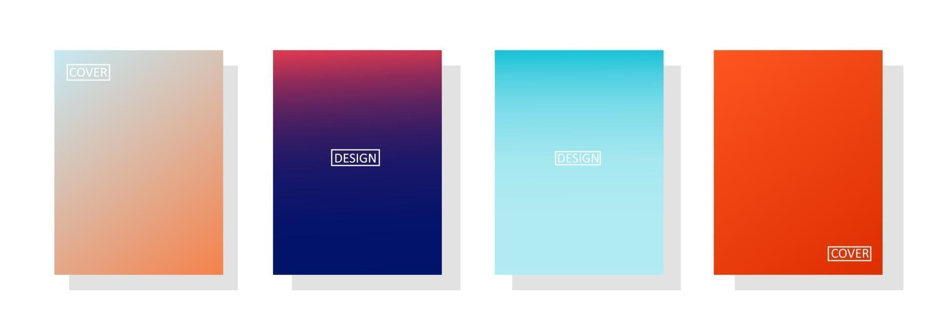 conjunto de fondo abstracto con hermoso color de gradación vector