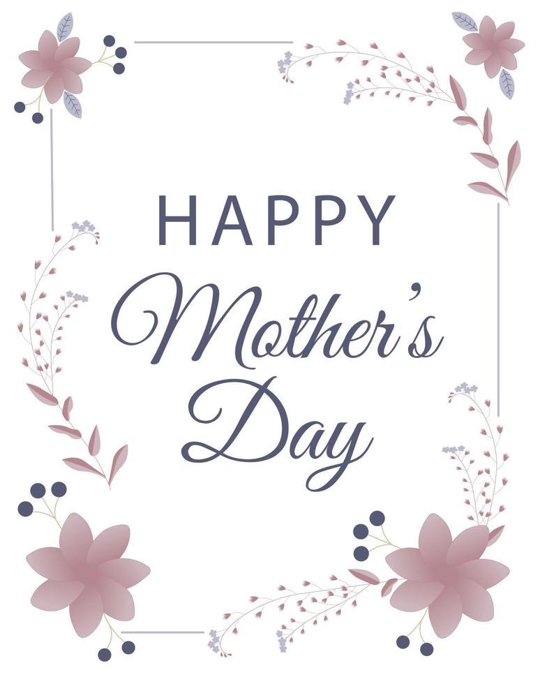 Banner de feliz día de la madre con flores. perfecto para tarjetas de felicitación, sitios web, banners o etiquetas. ilustración vectorial. vector