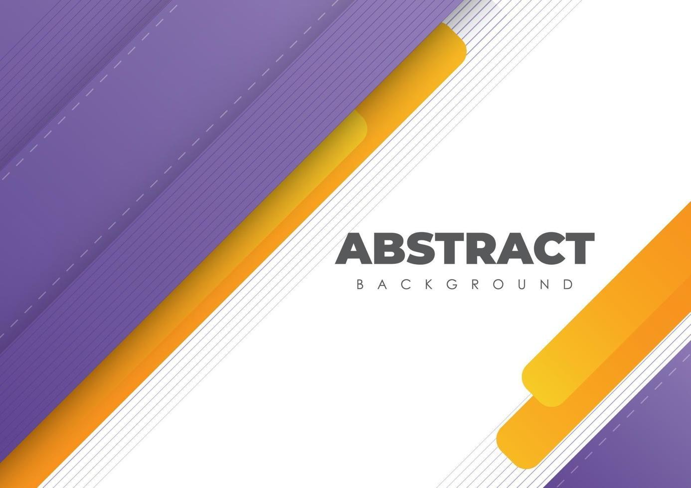 Diseño moderno de fondo abstracto con líneas diagonales moradas y naranjas vector