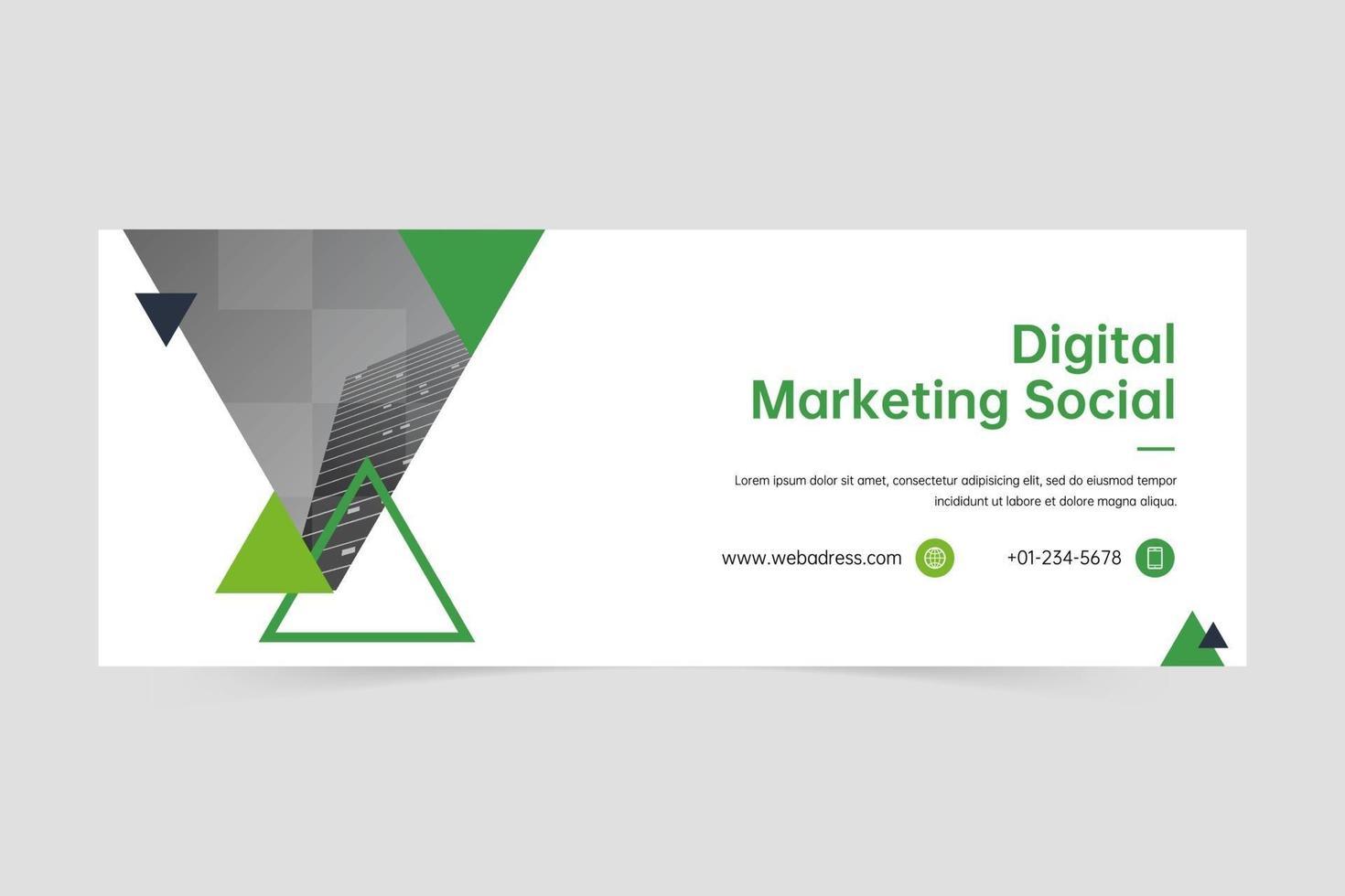 plantilla de banner de empresa de triángulo minimalista vector