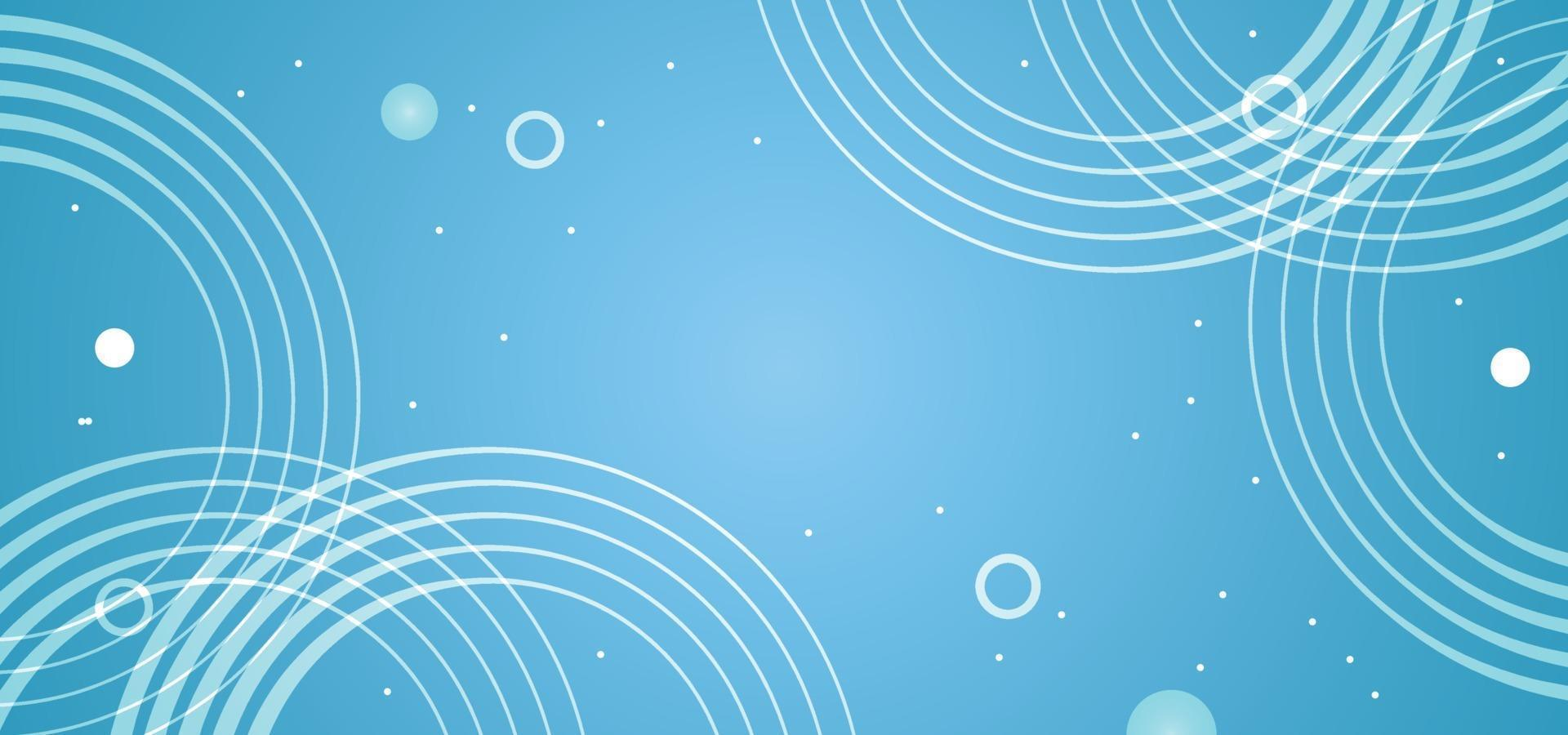 abstract blue circles background or banner vector