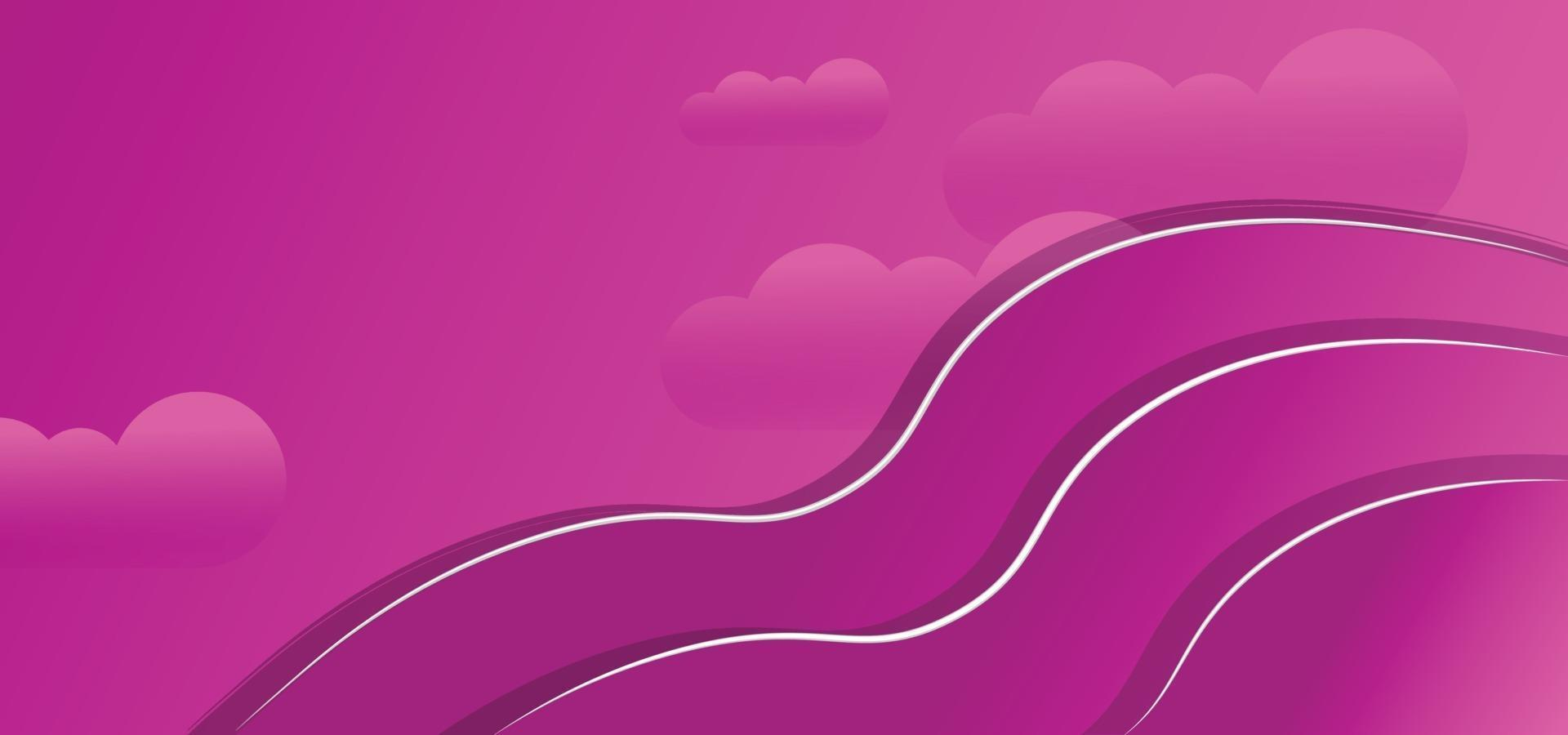 abstract clouds geometric shapes beautiful background or banner vector