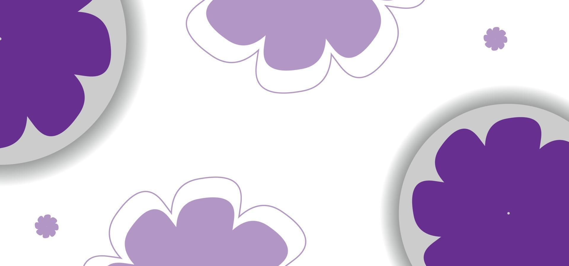purple floral seamless pattern or background vector