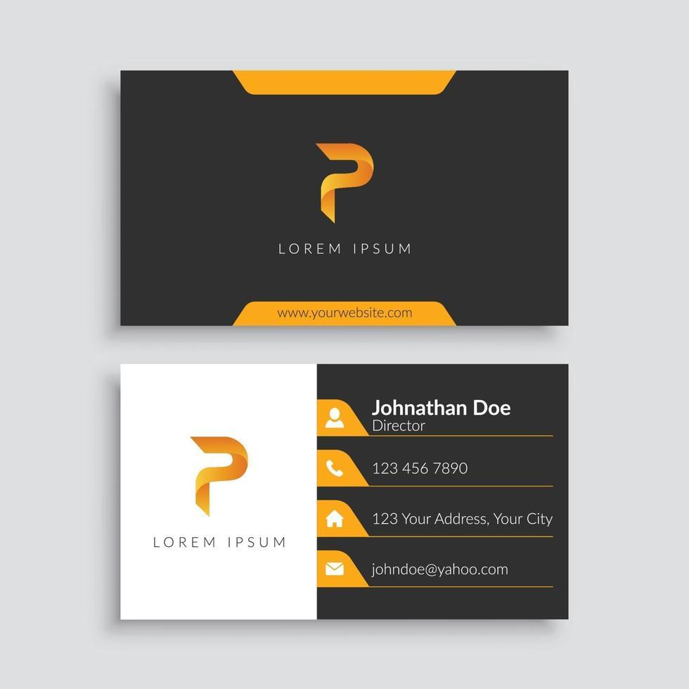 plantilla de tarjeta de visita minimalista moderna vector