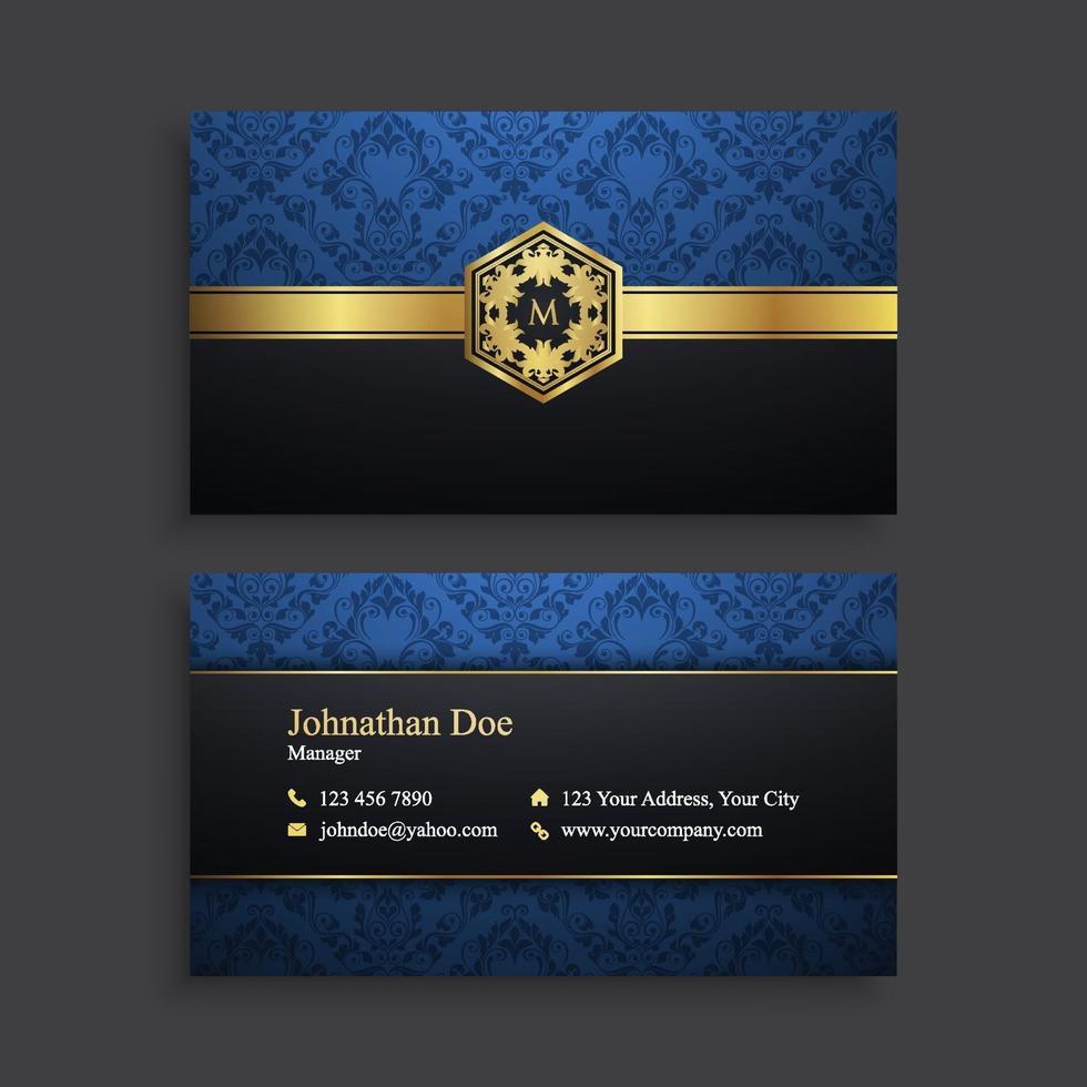 plantilla de tarjeta de visita moderna de lujo vector