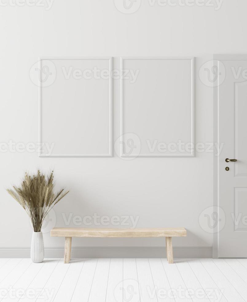 sala de estar, estilo minimalista, renderizado 3d foto