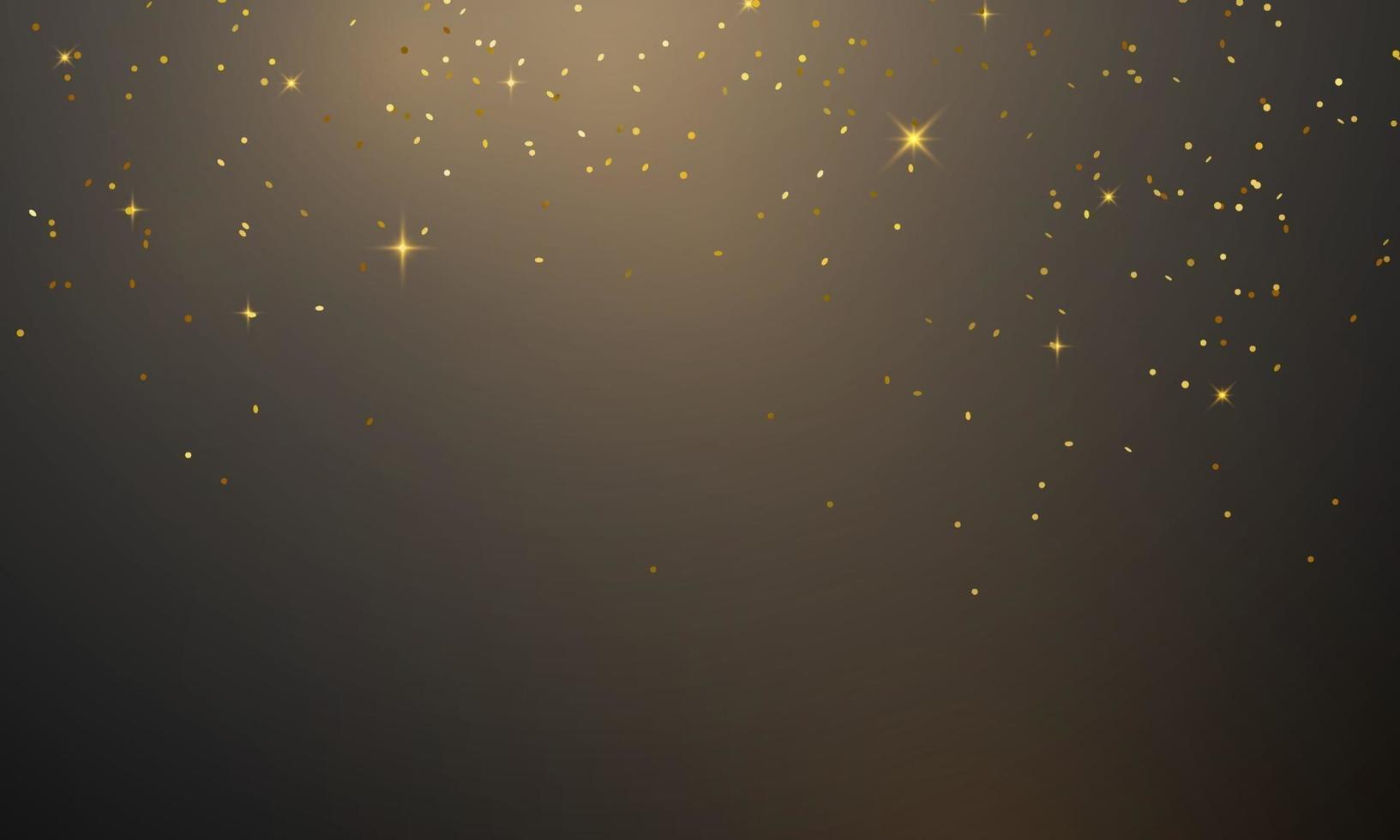 Feliz día de fiesta de plantilla de diseño de concepto de confeti dorado, ilustración de vector de celebración de fondo.