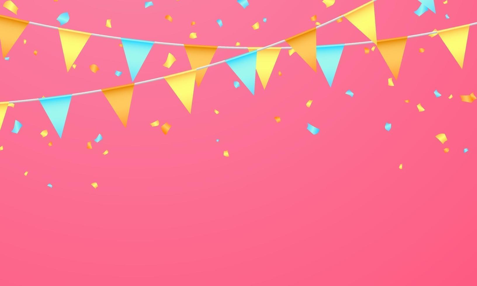 bandera color concepto diseño plantilla vacaciones feliz día, celebración de fondo ilustración vectorial. vector