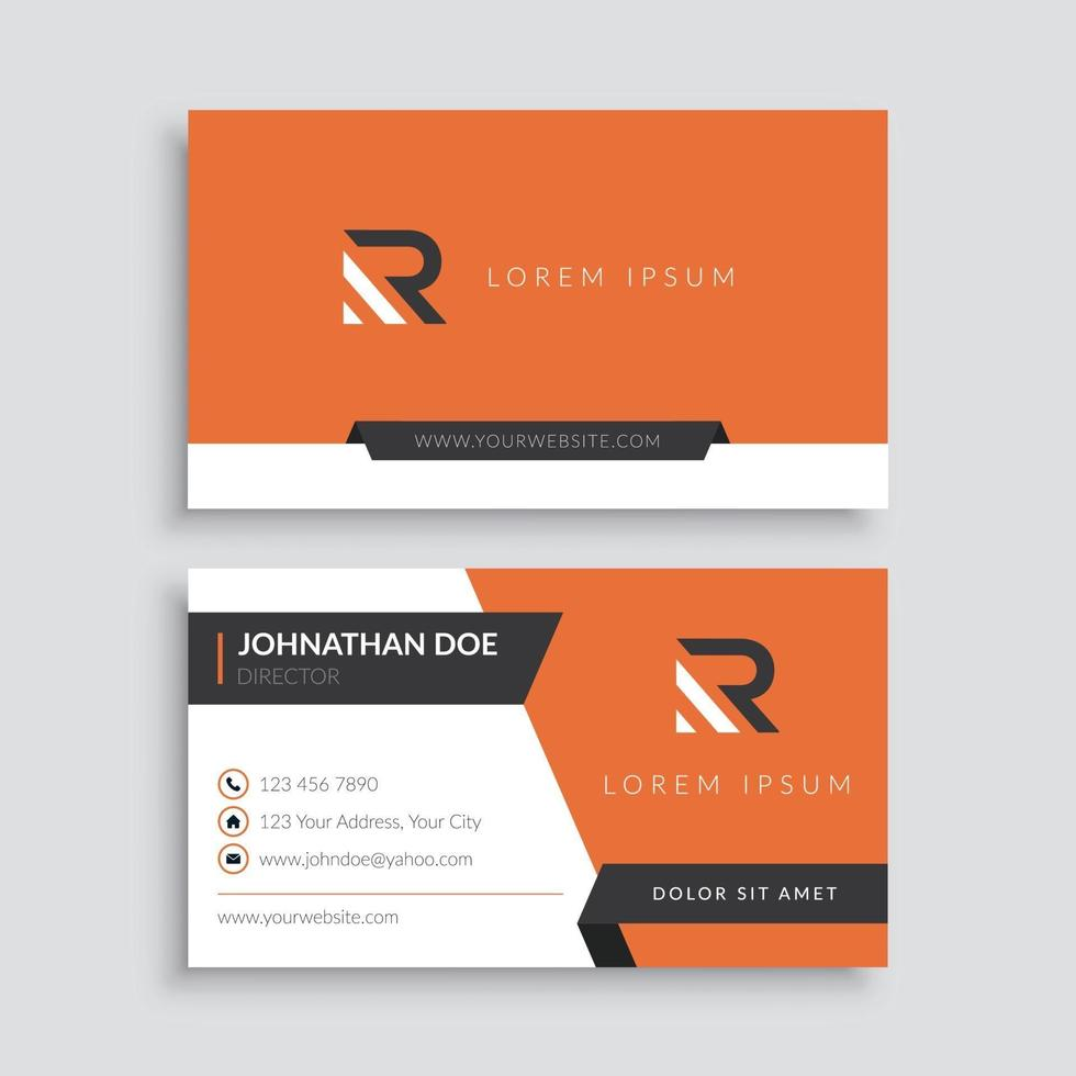 plantilla de tarjeta de visita minimalista profesional vector