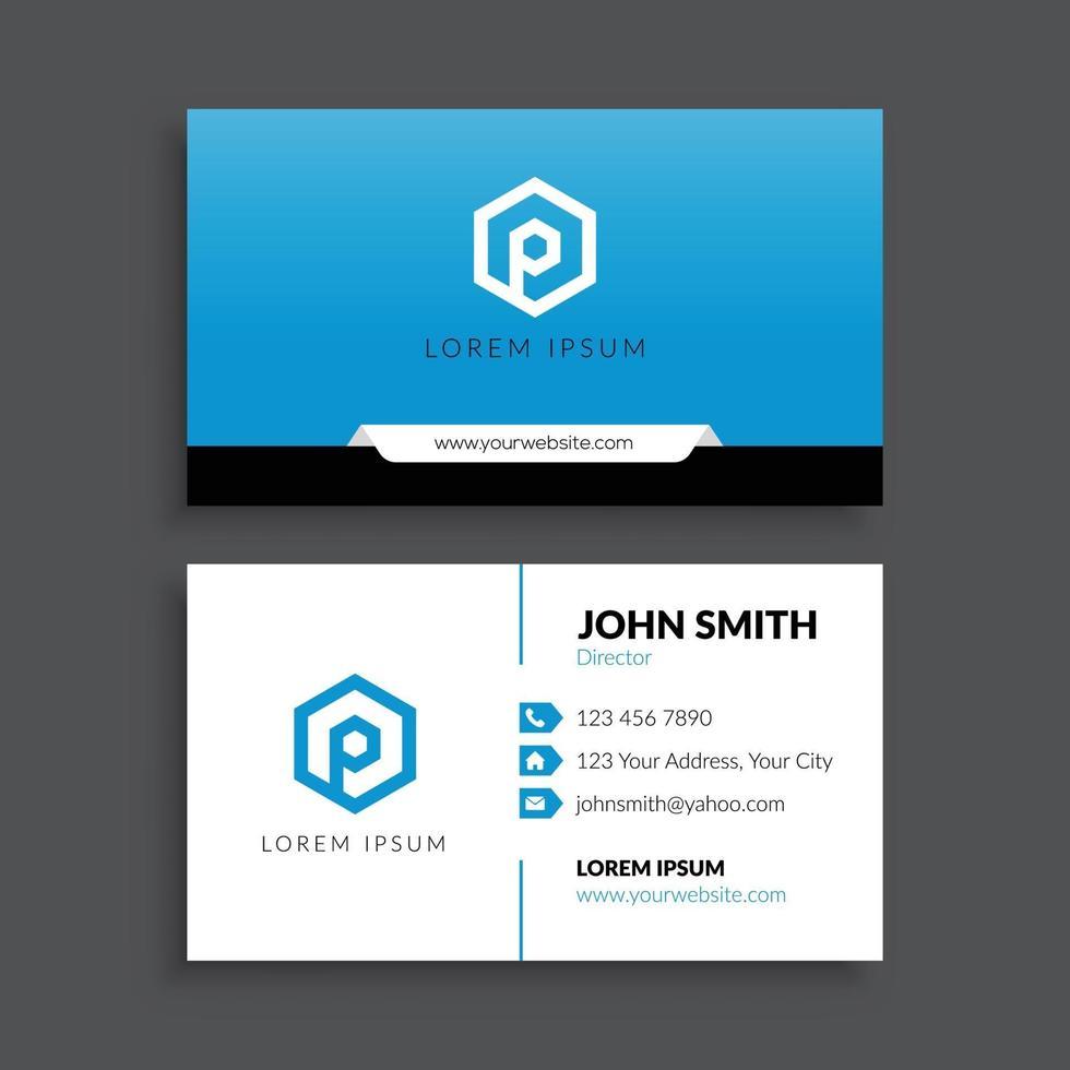 plantilla de tarjeta de visita corporativa minimalista vector