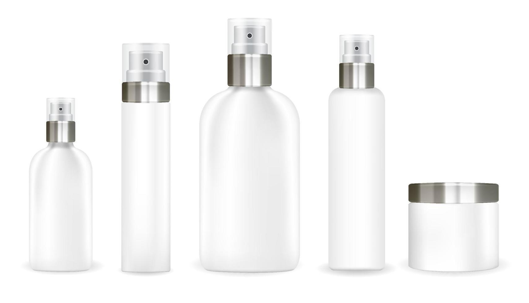 white cosmetic tube set on a white background vector